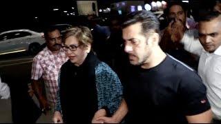 IIFA 2017- Salman Khan leave for New York Hand-in-hand with step-mum Helen