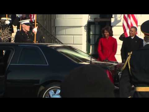 Raw- Obama Welcomes French Pres. to White House News Video