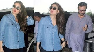 Sexy Kareena Kapoor Flaunting Her Baby Bump at Airport