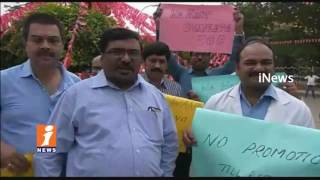 Govt Doctors Protest In Hyderabad Over Their Promotions | iNews