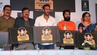 Ajay Devgn At Press Conference Of Sai International Marathon Shirdi