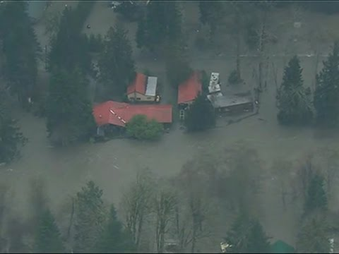 Raw- Major Flooding in Washington State News Video