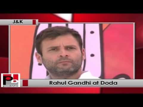 Rahul Gandhi addresses an election rally in Doda (Jammu & Kashmir)
