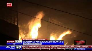 Ratusan Kios di Pasar Tavip Binjai Terbakar
