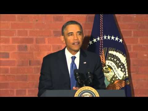 Obama Walks to Bill Signing Ceremony News Video