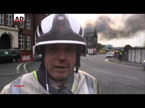 Raw- Massive Fire at UK Industrial Site News Video