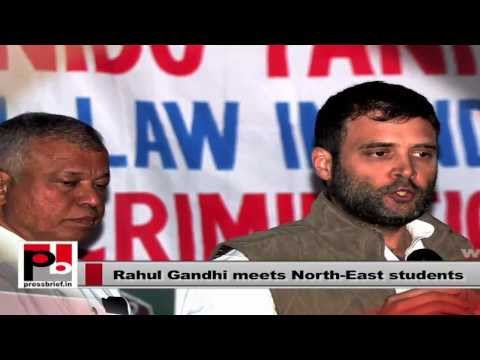 Rahul Gandhi meets students from North East on Nido's death