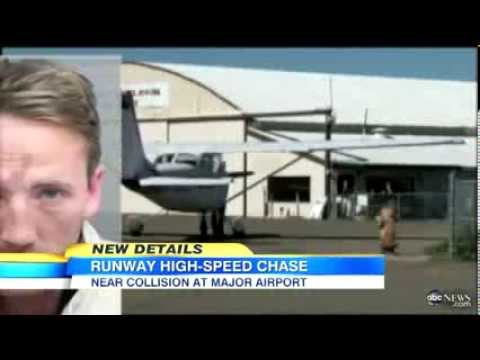Plane Almost Hits Car on Runway News Video