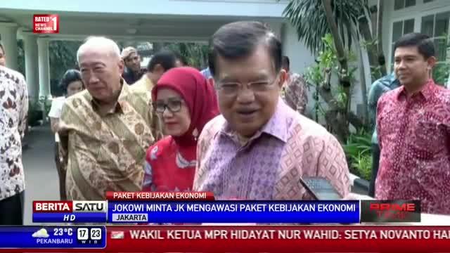 Jokowi Minta JK Mengawasi Paket Kebijakan Ekonomi