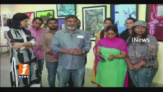 JNTU Master Of Fine Arts Students Showcase Art Gallery at University | Hyderabad | iNew