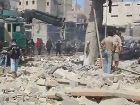 Raw- Aftermath of Airstrikes in Syria News Video