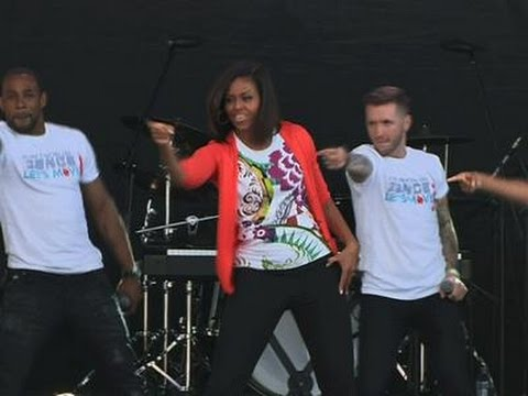 First Lady Busts a Move at Egg Roll News Video