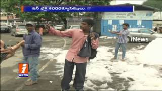 Toxic Foam Overflow From Hussain Sagar Canal at Liberty | Hyderabad | iNews