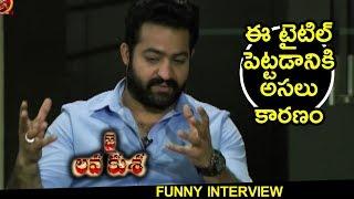 NTR About Movie Title || Jai Lava Kusa Team Funny Interview || Nivetha Thomas, Raashi Khanna