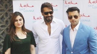 UNCUT - Ajay Devgn At The Launch Of Sheesha Sky Lounge