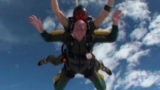 92-Year-Old Boldly Makes Daring Skydive