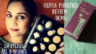 Olivia Panstick All 8 Shades Swatches & How to Use| Nidhi Katiyar