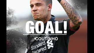 Philippe Coutinho Goal - Manchester United vs Liverpool 1-1 (Europa League)