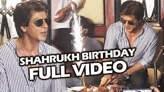 Shah Rukh Khan 52nd Birthday Celebration With Media FULL HD VIDEO