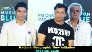 Farhan Akhtar Launch Of National Geographic New Initiative - Mission Blue