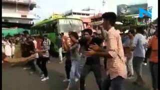 Caught on Cam- Mother slaps daughter for dancing in flash mob in Kerala News Video