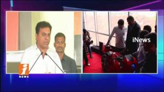 Minister KTR Launches Smartron Mobiles Manufacturing In Hyderabad | iNews