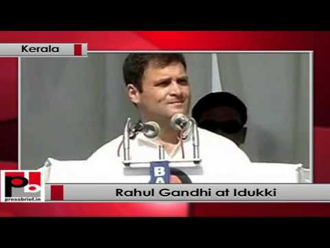Rahul Gandhi at Idukki in Kerala