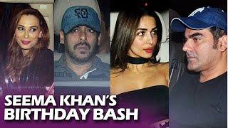 Seema Khan's Birthday Bash - Salman Khan, Karisma Kapoor, Arbaaz Khan, Sonakshi, Karan Johar, Iulia