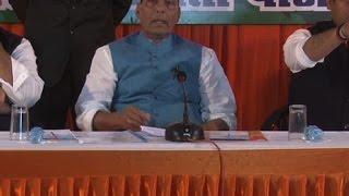 सपा-बसपा के शासन में प्रदेश की ज्यादातर चीनी मिलें बंद हुईं- राजनाथ सिंह