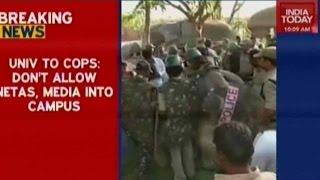 25 Students Arrested: Hyderabad University Violence