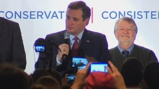 Cruz Thanks Supporters in Tight Race for Third
