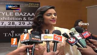 Models Fashion Ramp Walk For Designer Expo Exhibition In Hyderabad | Metro Colours | iNews