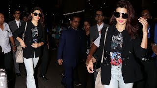 Jacqueline Fernandez Return From Da-Bangg Tour Spotted At Airport