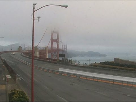 Raw- Golden Gate Bridge Closes for Safety Work News Video