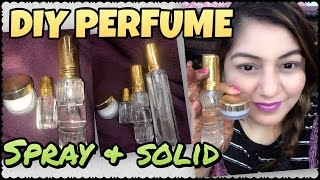 DIY Perfume Spray & Solid | Homemade Natural Perfume Recipe | How to Make your Own Perfume at Home