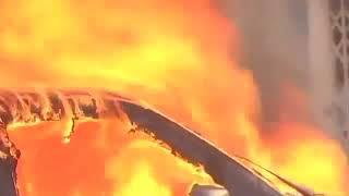 Karni sena burnt car || padmaavat || ban ||
