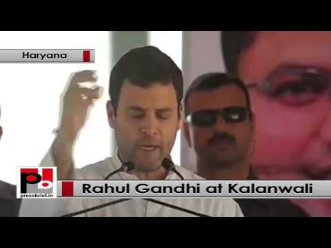 Rahul Gandhi addresses Congress rally Kalanwali, Haryana, attacks Modi