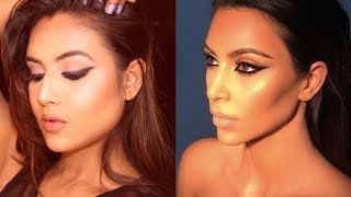Kim Kardashian inspired makeup look | makeup and fashion diaries