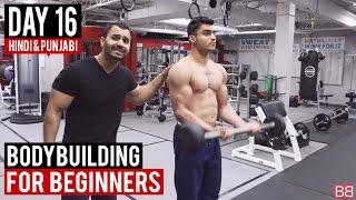 | Day 16 | Bicep & Tricep Split Workout for Beginners! (Hindi / Punjabi)