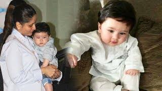 Kareena's Baby Taimur Ali Khan Looks Cute In White Kurta