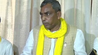 कैबिनेट मंत्री ओम प्रकाश ने की प्रेस कांफ्रेंस