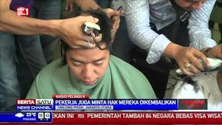 RJ Lino Jadi Tersangka, Ratusan Pekerja JICT Cukur Rambut