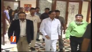 CM KCR in Delhi To Meet President Pranab Mukherjee and Ministers | iNews