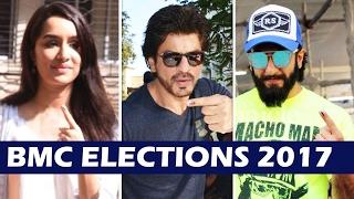 Bollywood Celebs Cast VOTE At BMC Elections 2017   Shahrukh Khan, Ranveer Singh, Shraddha Kapoor