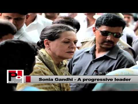 Sonia Gandhi - A leader who is keen to empower women and poor