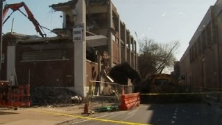 Section of Pa. Building Collapses onto Street News Video