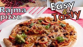 rajma pizza easy recipe