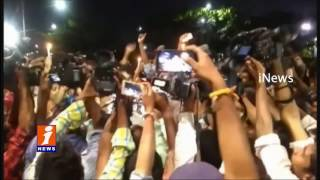 YCP Leader Protest With Candle Rally In Vizag Over Police Stops YS Jagan | iNews