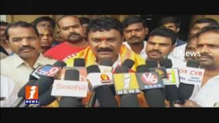 TS Minister Talasani Srinivas Yadav Visits Yadadri Laxmi Narasimha Swamy Temple | iNews