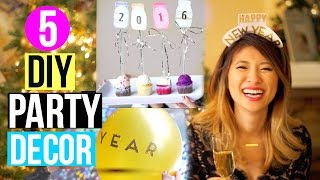 DIY New Year's Eve Party Decor + HUGE Holiday Giveaway 2016!